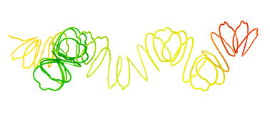 Сломленная красочная весна игрушки Стоковое Изображение RF