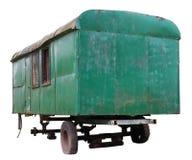 Сломленная покинутая зеленая фура автомобиля Стоковое Изображение