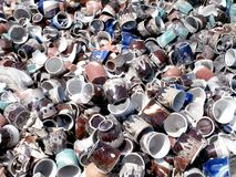 Сломленная посуда чашки Стоковая Фотография RF