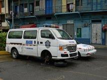 Сломленная полицейская машина в Панаме Стоковое Изображение RF