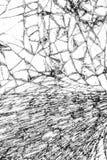 Сломленная стеклянная текстура, треснутая в стекле Стоковое Изображение RF
