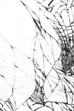 Сломленная стеклянная текстура, треснутая в стекле Стоковые Фотографии RF