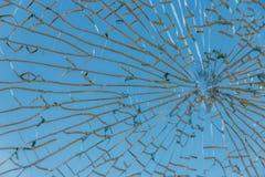 сломленная стеклянная текстура Стоковые Изображения RF