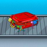 Сломленная сумка на векторе искусства шипучки ленты заявки багажа Стоковое Изображение RF