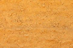 Сломленная текстура стены глины Стоковое Изображение RF