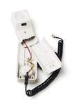 Сломленная телефонная трубка Стоковое фото RF