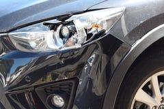 Сломленная фара автомобиля Стоковое Изображение RF