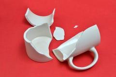 сломленная чашка Стоковые Изображения RF