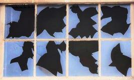 Сломленное испытание Rorschach окна Стоковые Фото