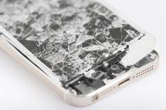 Сломленное мобильное устройство Стоковые Изображения RF