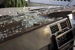 сломленное лобовое стекло Стоковая Фотография RF
