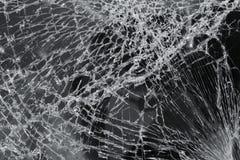 сломленное лобовое стекло стоковое фото