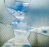 сломленное окно Стоковое Изображение RF