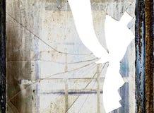 Сломленное разрушенное окно - Стоковая Фотография