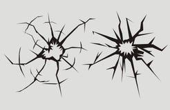 сломленное стекло сломленное окно Стоковые Изображения RF