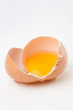 сломленное яичко сырцовое Стоковая Фотография RF
