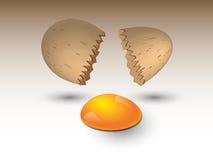 Сломленное яичко иллюстрация вектора