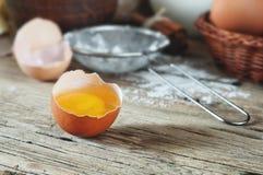 сломленное яичко стоковая фотография
