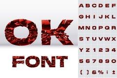 Сломленные алфавитные знаки иллюстрация штока