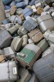 Сломленные газовые счетчики и старый в месте захоронения отходов отхода экстренныйого выпуска Стоковое Изображение RF