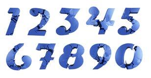 Сломленные номера Стоковые Изображения RF