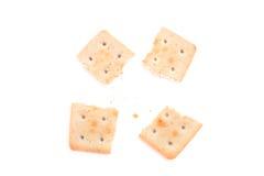 Сломленные печенья изолированные на белой предпосылке Стоковые Фотографии RF