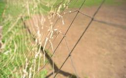 Сломленные спорт ловя сетью цель футбола Стоковое фото RF