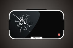 Сломленные стекла виртуальной реальности Стоковые Фото