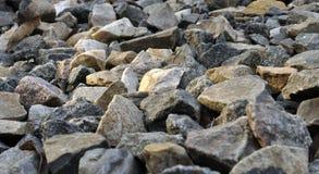 Сломленные утес и камень Стоковое Изображение