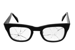 Сломленные Eyeglasses стоковая фотография rf