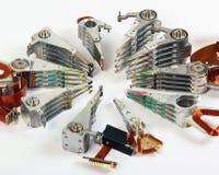 Сломленные headstacks старых жестких дисков Стоковое Фото