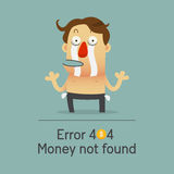 Сломленный бизнесмен не имеет никакие деньги показывая его пустое карманн Стоковое Фото