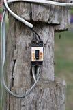 Сломленный винтажный ретро большой электрический автомат защити цепи с защищает Стоковое Изображение