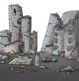 Сломленный город иллюстрация штока
