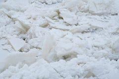 Сломленный лед во время замораживания-вверх Стоковое Изображение RF