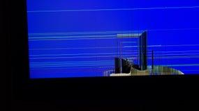 Сломленный ЖК-телевизор Стоковые Фото
