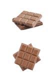 Сломленный изолированный шоколадный батончик Стоковые Фотографии RF