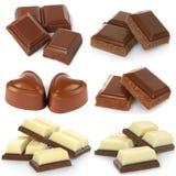 Сломленный комплект шоколадного батончика молока Стоковая Фотография