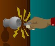 Сломленный ключ раскрывая дверь Стоковые Фотографии RF