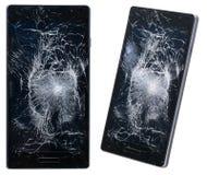 сломленный мобильный телефон Стоковое Изображение RF