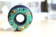 Сломленный объектив фотоаппарата Стоковые Фотографии RF