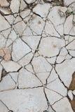 Сломленный пол бетона цемента стоковые изображения