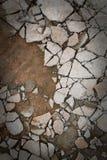 Сломленный пол бетона цемента стоковое изображение rf
