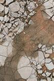 Сломленный пол бетона цемента стоковое фото rf