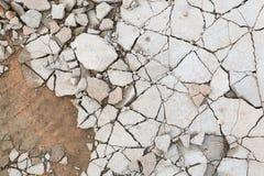 Сломленный пол concreat цемента стоковое фото rf