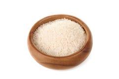 Сломленный рис в деревянном шаре Стоковая Фотография