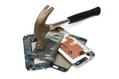 сломленный телефон Стоковая Фотография