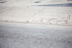 Сломленный тротуар Стоковое Изображение RF