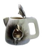 Сломленный чайник стоковые фотографии rf