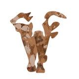 Слон акварели Стоковое Изображение RF